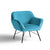 Candy Lagoon Velvet Accent Chair