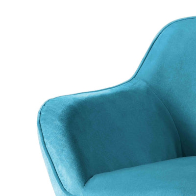 close up of upholstered velvet fabric on the Candy Lagoon Velvet Accent Chair