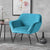 Candy Lagoon Velvet Accent Chair lifestyle image