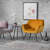 Candy Gold Velvet Accent Chair lifestyle image 2