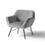 Candy Grey Velvet Accent Chair