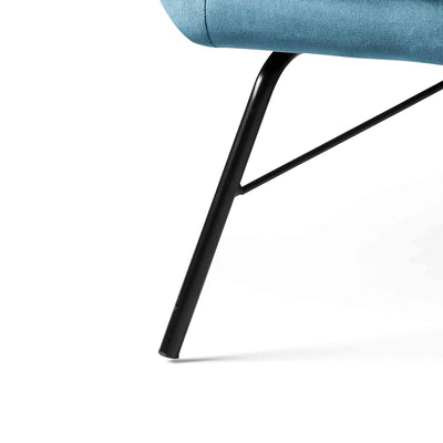 close up of slanted legs on the Candy Peacock Velvet Accent Chair