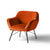 Candy Apricot Velvet Accent Chair