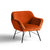 Candy Apricot Velvet Accent Armchair