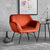 Candy Apricot Velvet Accent Chair lifestyle image