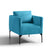 Bali Lagoon Velvet Accent Chair