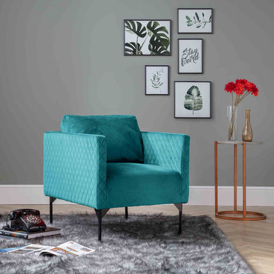 Bali Lagoon Velvet Accent Chair lifestyle image