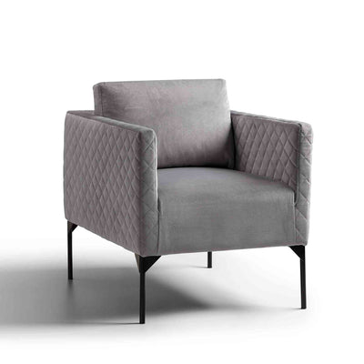 Bali Grey Velvet Accent Chair