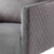 close up of diamond stitching on the Bali Grey Velvet Accent Chair