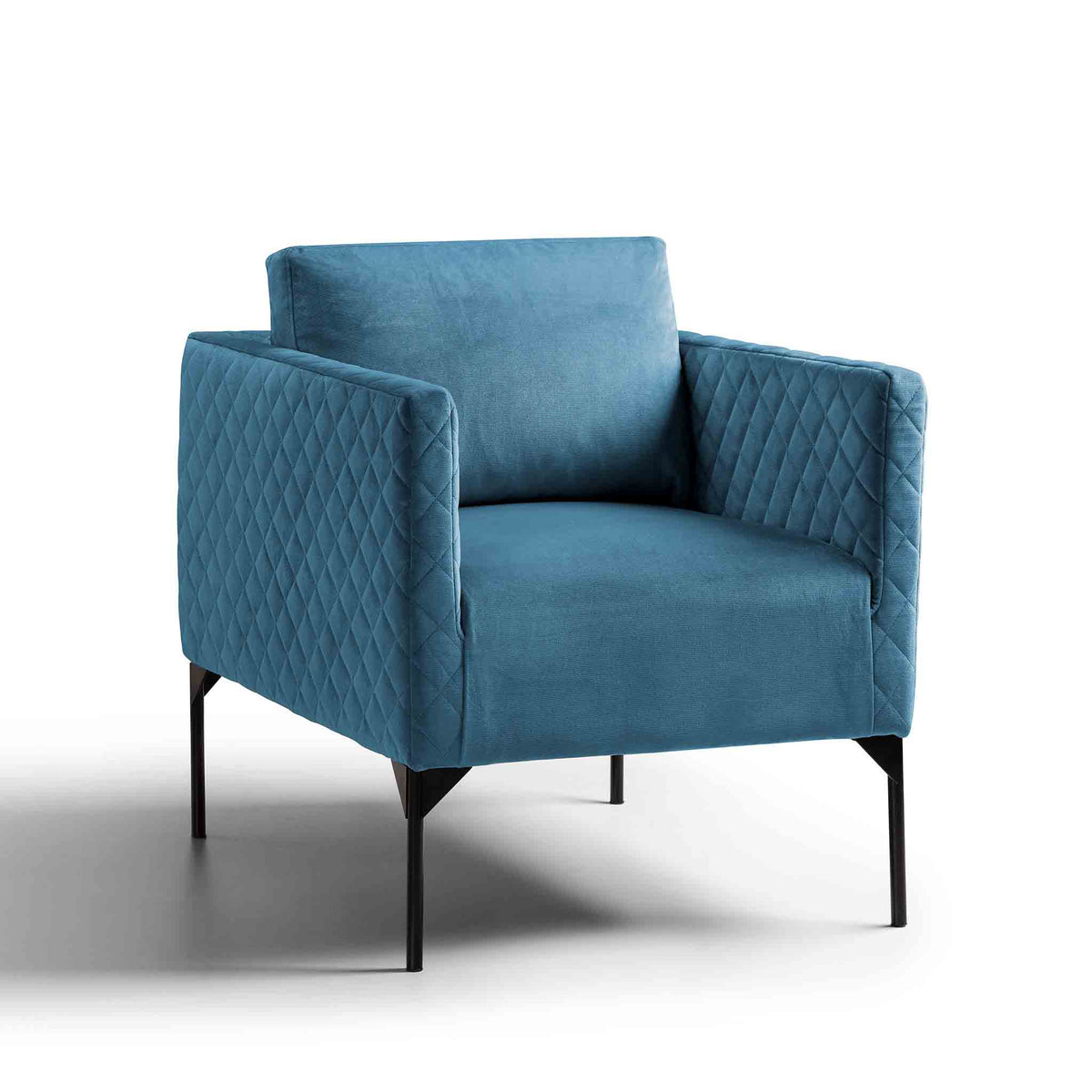 Bali Peacock Velvet Accent Chair