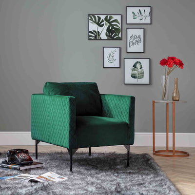 Bali Jasper Velvet Accent Chair lifestyle image