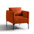 Bali Apricot Velvet Accent Chair