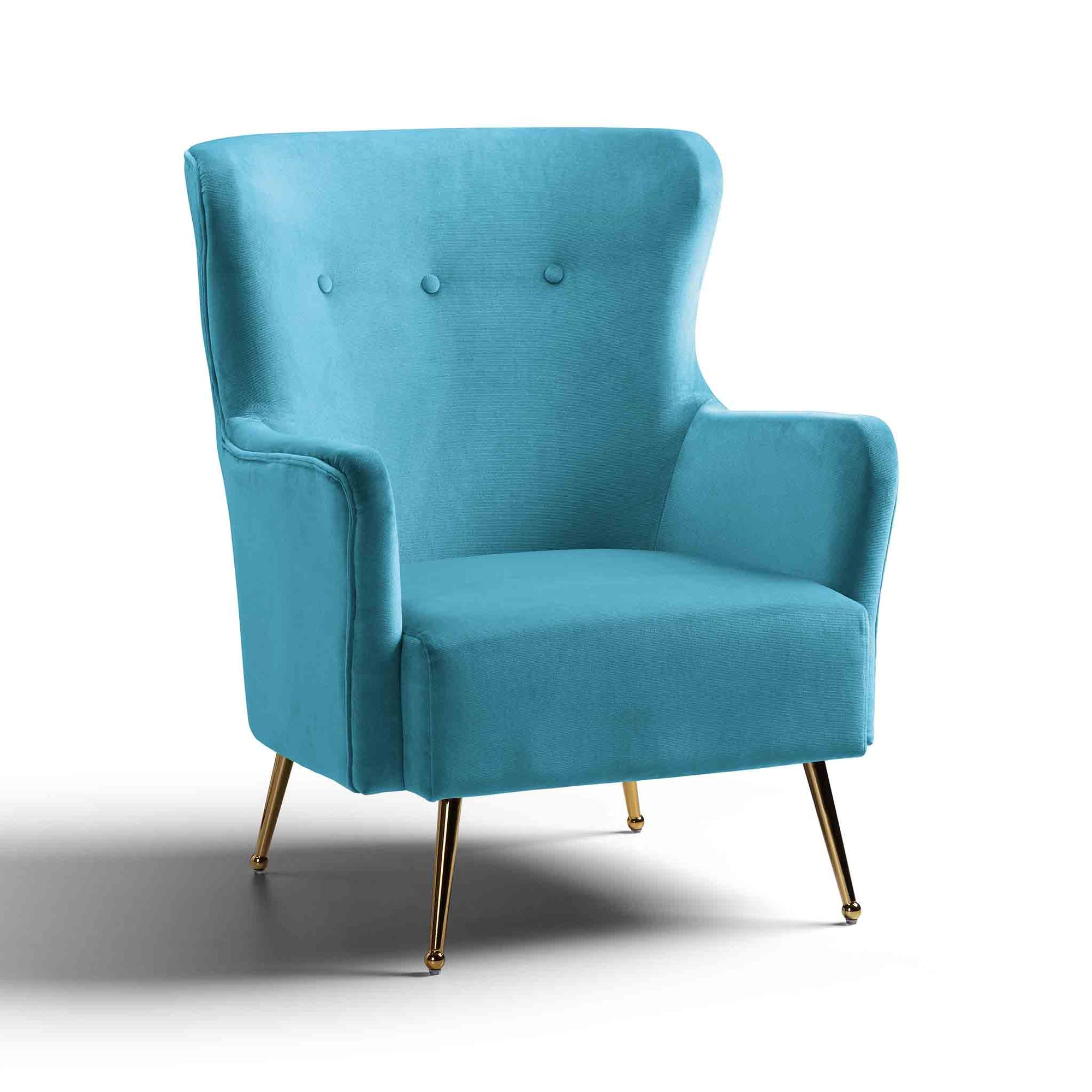 Venus Velvet Accent Chair by Roseland Furniture