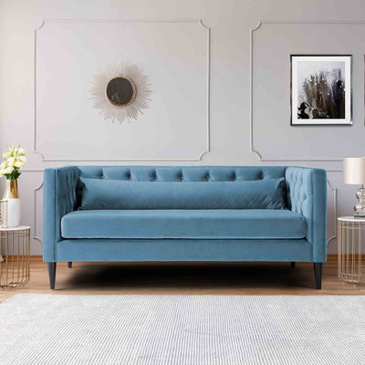 Savoy Peacock Velvet 2 Seater Accent Sofa lifestyle image