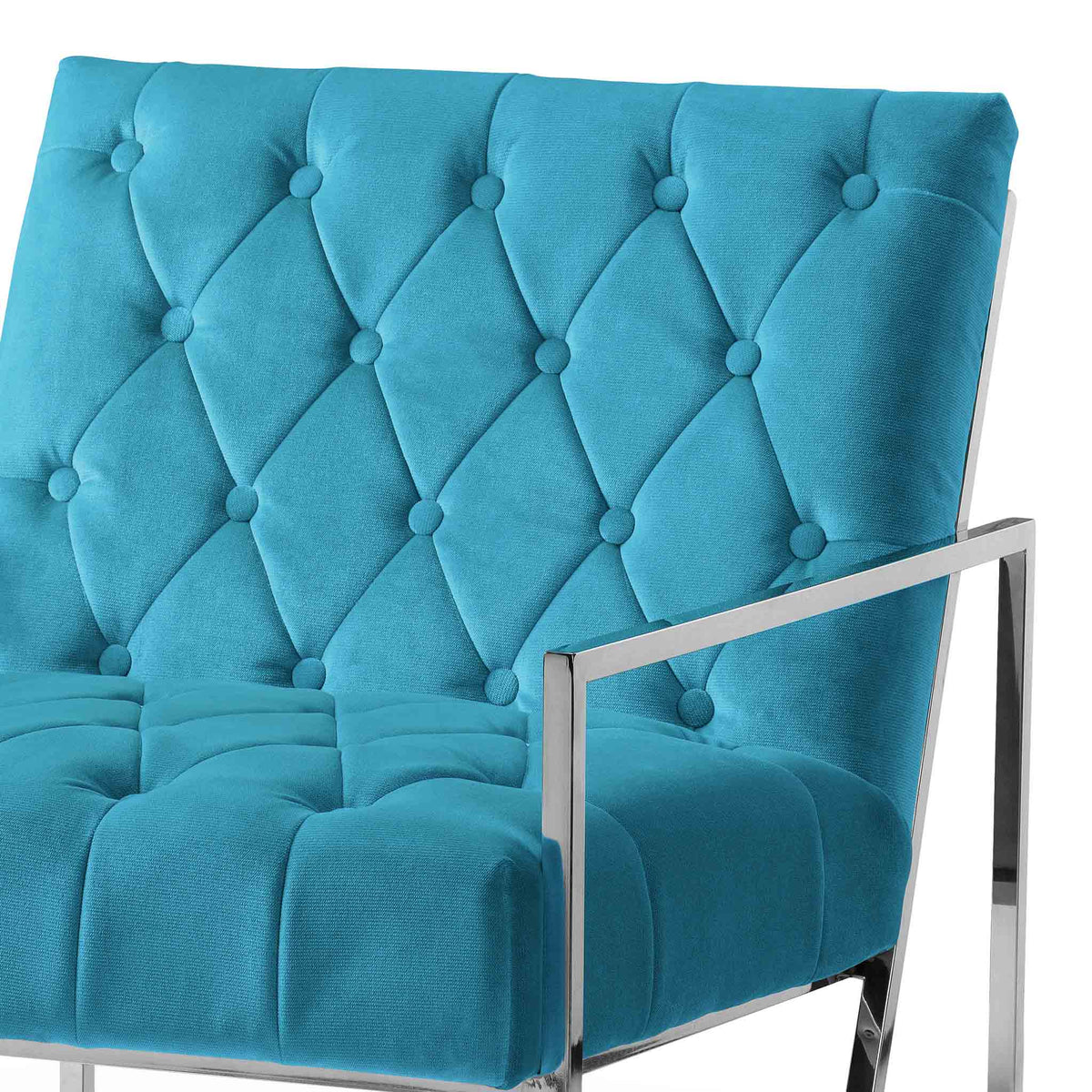 Icon Velvet Accent Chair - Lagoon