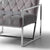 Icon Velvet Accent Chair - Grey