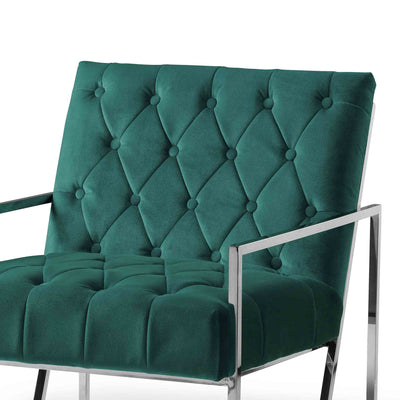 Icon Velvet Accent Chair - Jasper