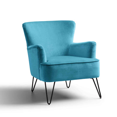 Oasis Velvet Accent Chair by Roseland Furniture