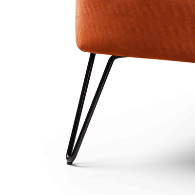 Oasis Velvet Accent Chair - Apricot