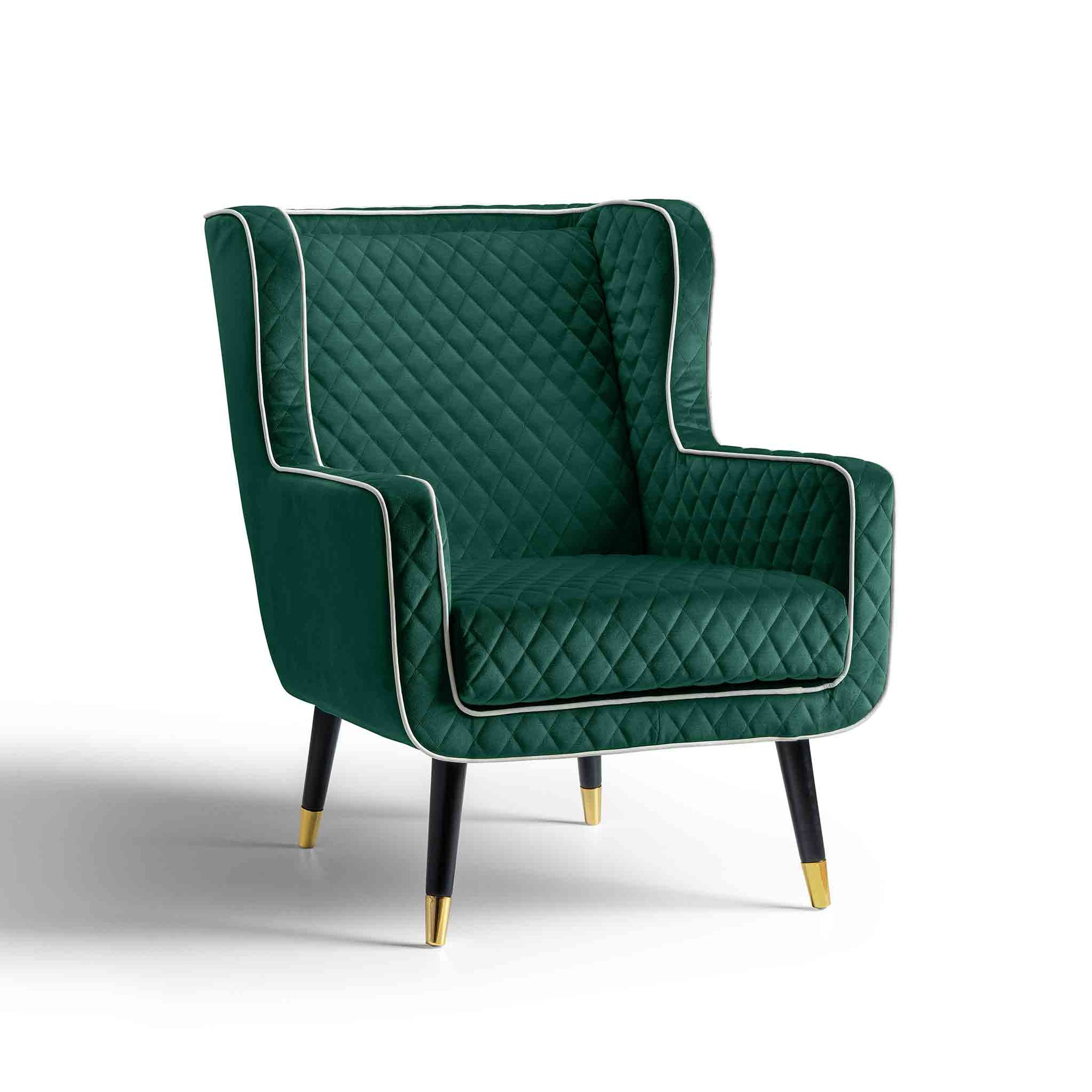 Monty Jasper Green Velvet Accent Chair