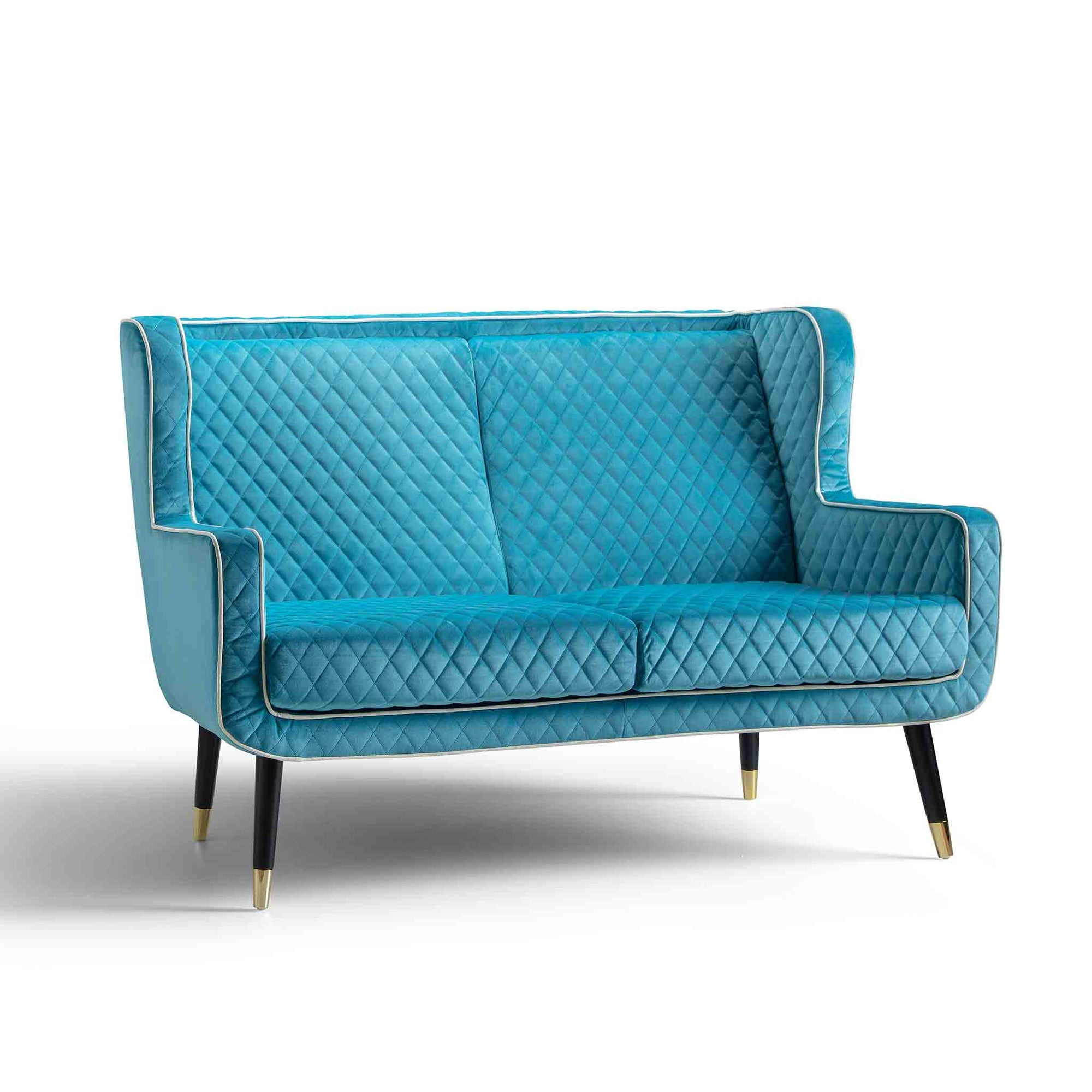 Monty Lagoon Blue Two Seater Chair from Roseland Furniture