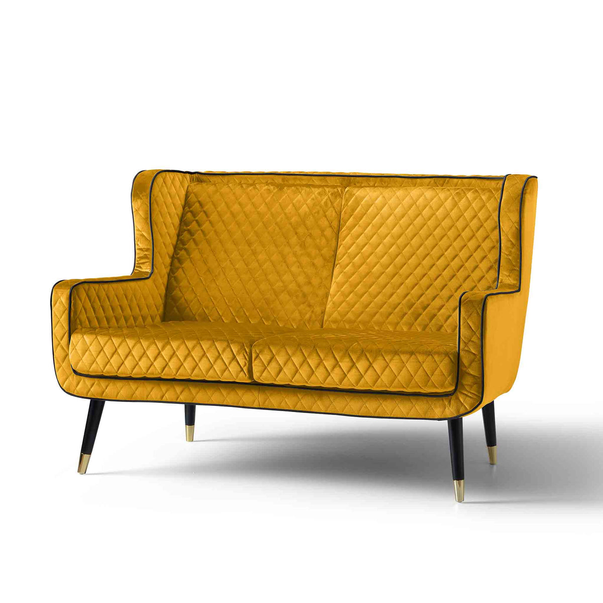 Monty Gold 2 Seater Sofa Chair