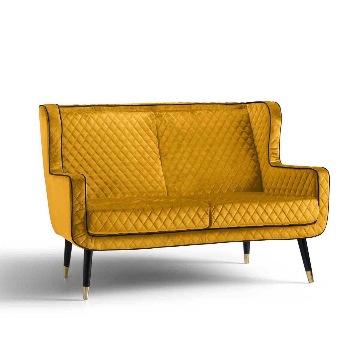 Monty Gold Two Seater Chair from Roseland Furniture