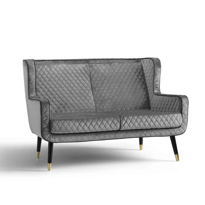 Monty Grey Two Seater Chair from Roseland Furniture