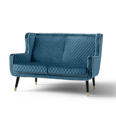 Monty Peacock Blue 2 Seater Sofa Chair
