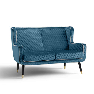 Monty Peacock Blue Two Seater Chair from Roseland Furniture
