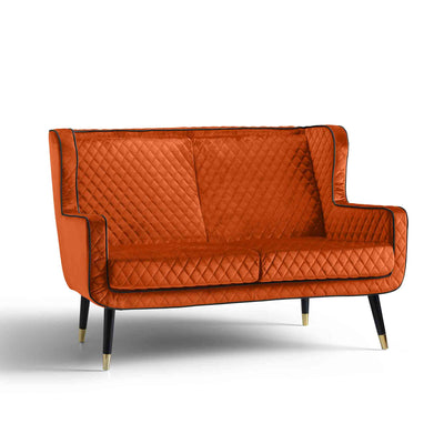 Monty Apricot Orange Two Seater Chair from Roseland Furniture