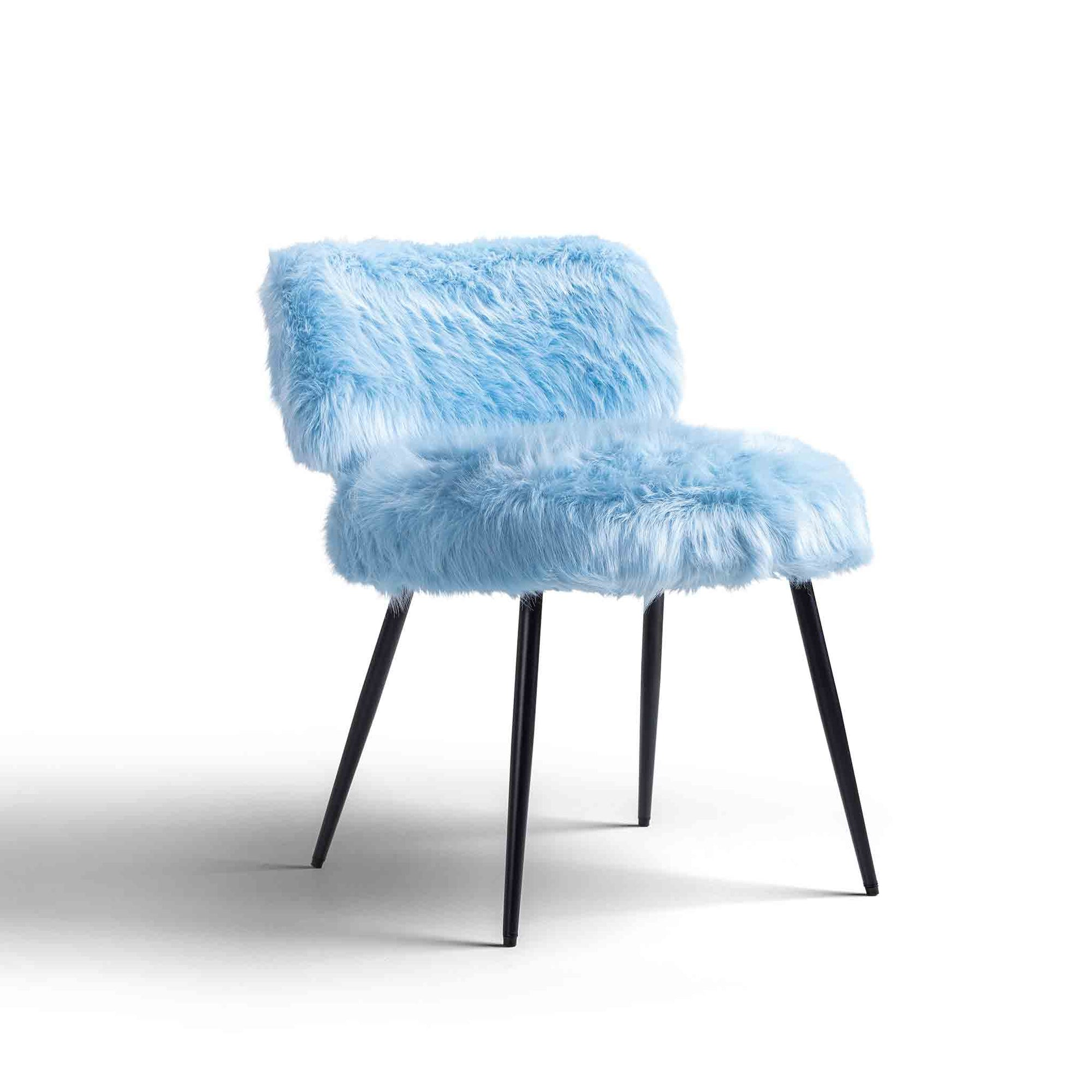 Rio Faux Fur Accent Chair by Roseland Furniture