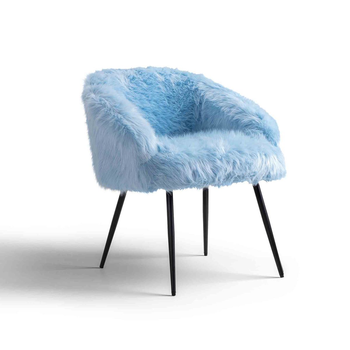 Ivy Faux Fur Accent Chair by Rosleand Furniture
