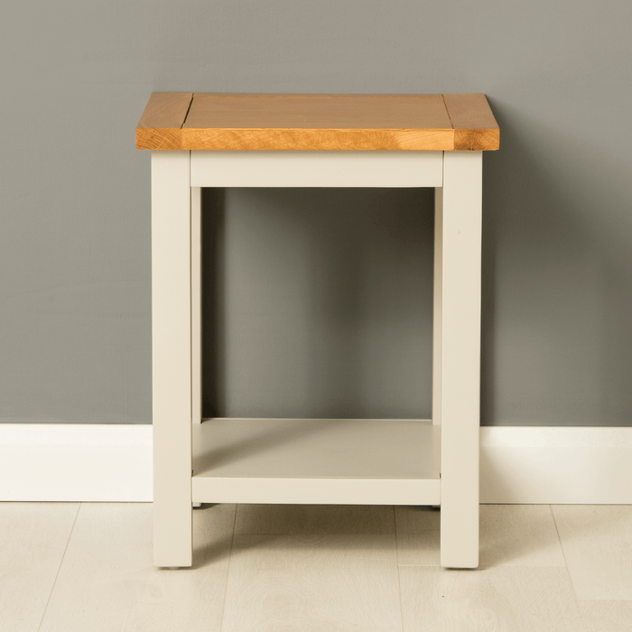 Mullion Grey Lamp Table