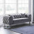 Ritz Grey Velvet 2 Seater Chesterfield Sofa lifestyle image