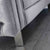 close up of the stainless steel feet on the Ritz Grey Velvet 2 Seater Chesterfield Sofa