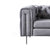 front view of the deep supporting stainless steel feet on the Ritz Grey Velvet 2 Seater Chesterfield Sofa