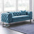 Ritz Peacock Velvet 2 Seater Chesterfield Sofa lifestyle image