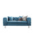 Ritz Peacock Velvet 2 Seater Chesterfield Settee from Roseland furniture