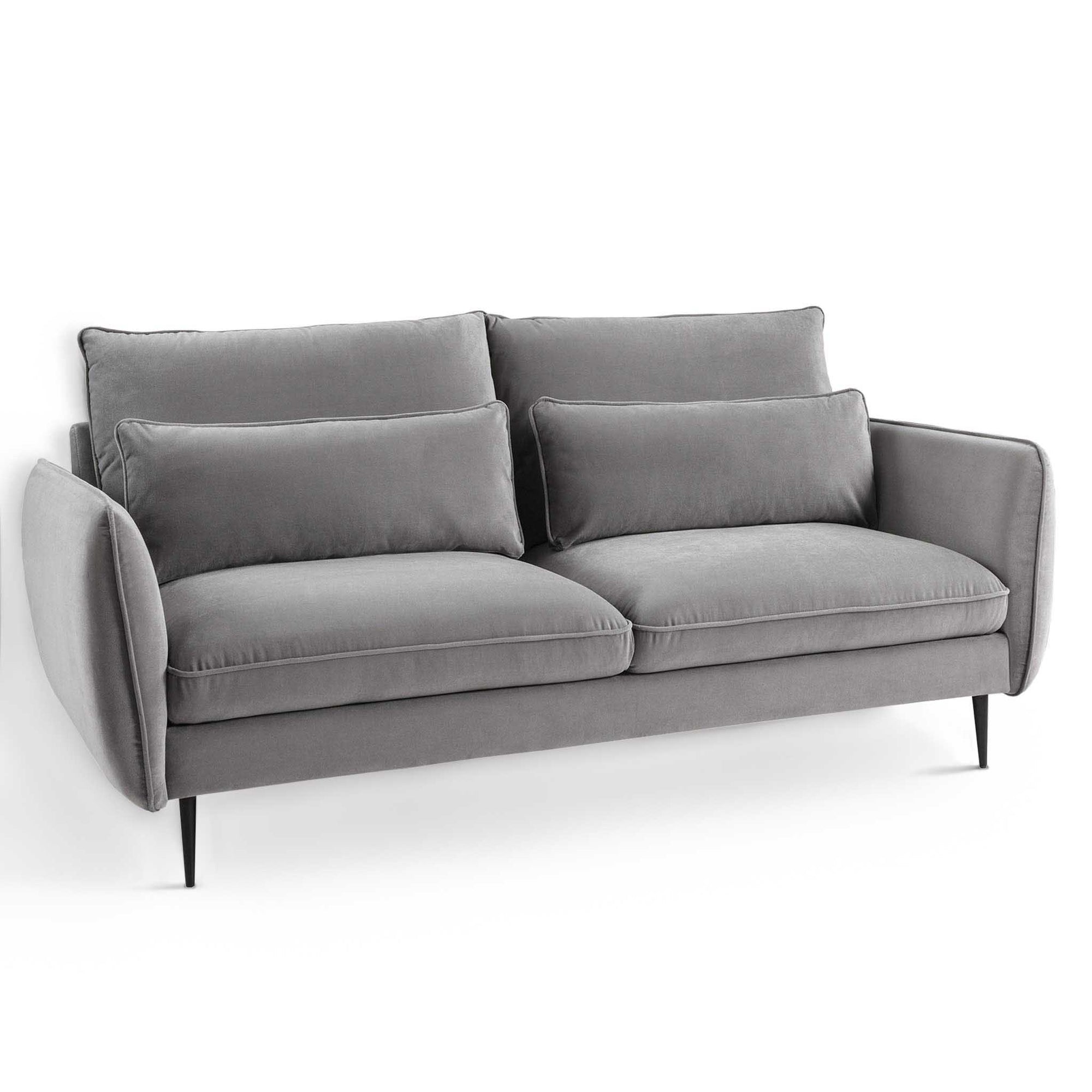 Rhonda Grey Velvet 3 Seater Sofa from Roseland Furniture