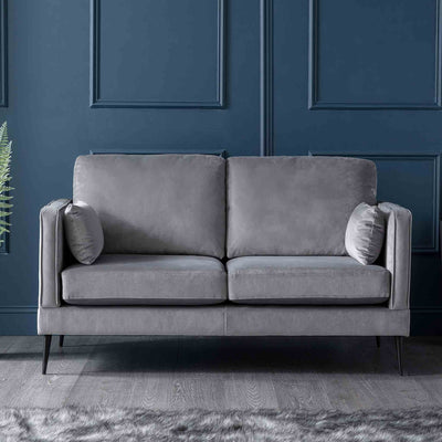 Anton Grey 2 Seater Sofa - Lifestyle