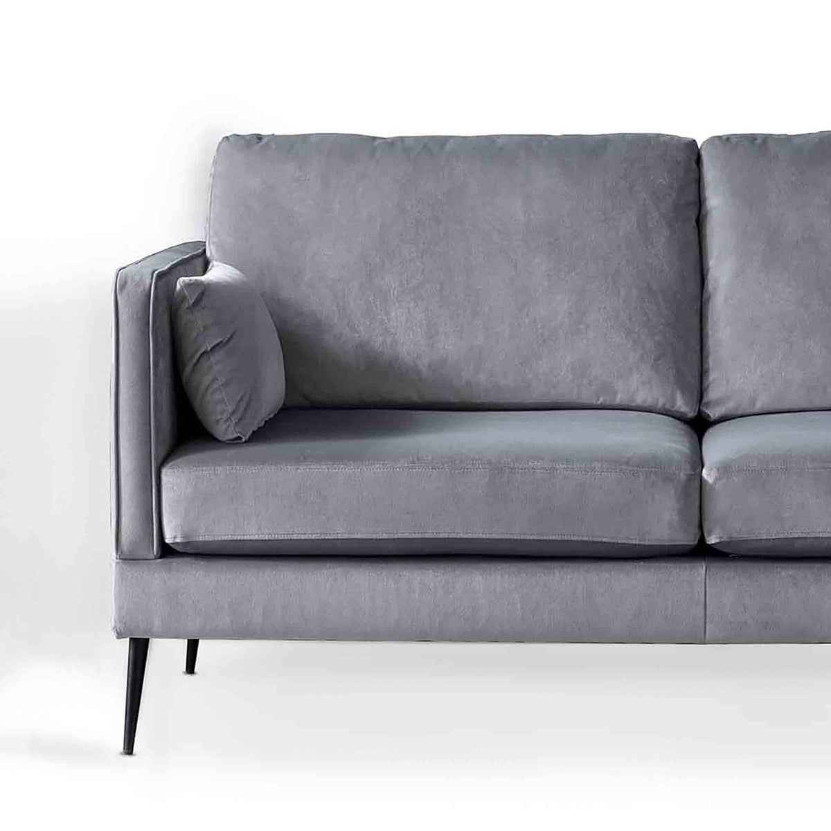 Anton Grey 2 Seater Sofa - Close up of sofa