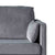 Anton Grey 2 Seater Sofa - Close up of arm rest on sofa