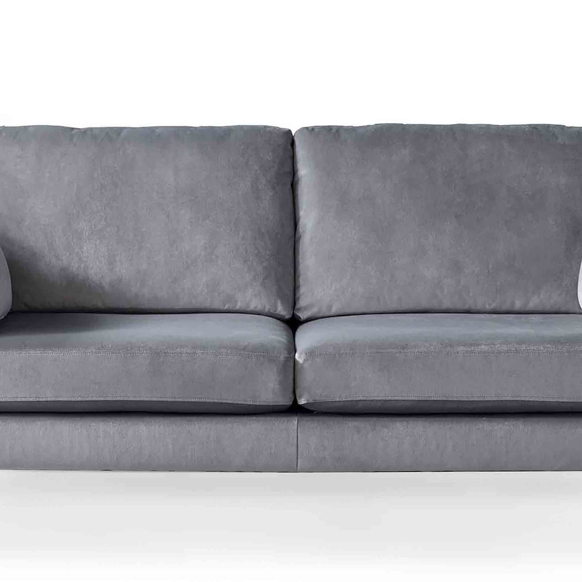 Anton Grey 2 Seater Sofa - Close up of mid section of sofa
