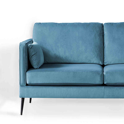 Anton Peacock 2 Seater Sofa - Close up of sofa