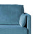 Anton Peacock 2 Seater Sofa - Close up of arm rest on sofa