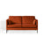 Anton Apricot 2 Seater Sofa by Roseland Furniture