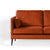Anton Apricot 2 Seater Sofa - Close up of sofa