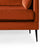 Anton Apricot 2 Seater Sofa - Close up of feet on sofa