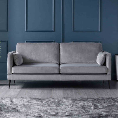 Anton Grey 3 Seater Sofa by Roseland Furniture